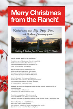 Merry Christmas from the Ranch!