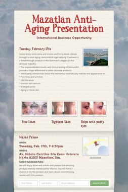 Mazatlan Anti-Aging Presentation