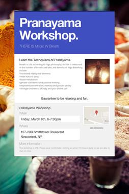 Pranayama Workshop.
