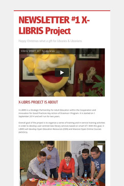 NEWSLETTER #1 X-LIBRIS Project