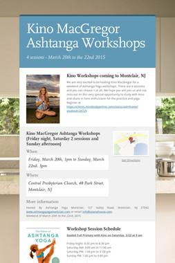 Kino MacGregor Ashtanga Workshops