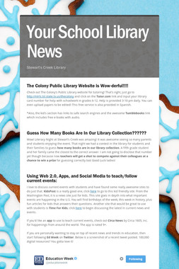 Your School Library News