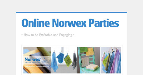 Online Norwex Parties Smore Newsletters