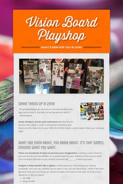 Vision Board Playshop