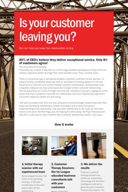 Is your customer leaving you?