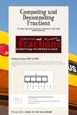 Composing and Decomposing Fractions