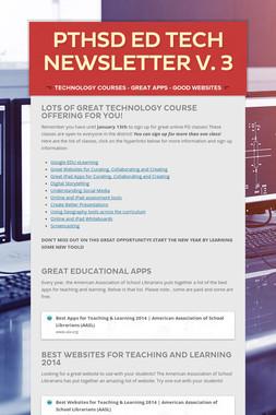 PTHSD Ed Tech Newsletter V. 3