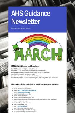 AHS Guidance Newsletter