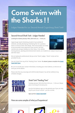 Come Swim with the Sharks ! !