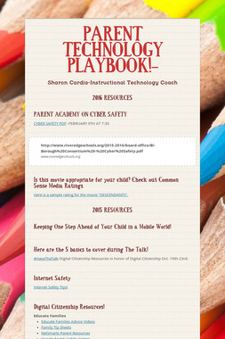 PARENT TECHNOLOGY PLAYBOOK!-