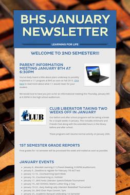 BHS January Newsletter