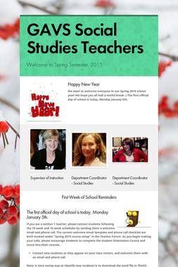GAVS Social Studies Teachers