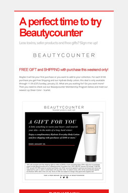 A perfect time to try Beautycounter