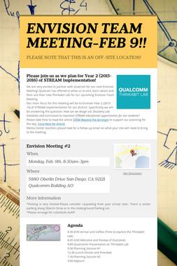 ENVISION TEAM MEETING-FEB 9!!