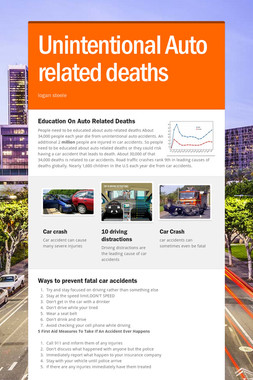 Unintentional Auto related deaths