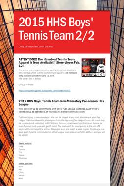 2015 HHS Boys' Tennis Team 2/2
