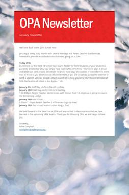 OPA Newsletter
