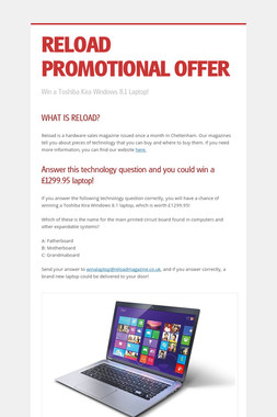 RELOAD PROMOTIONAL OFFER