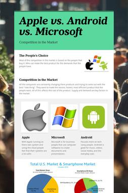 Apple vs. Android vs. Microsoft