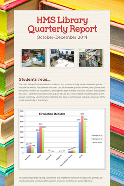 HMS Library Quarterly Report