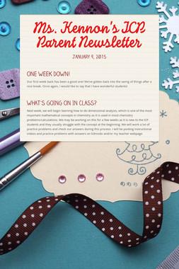 Ms. Kennon's ICP Parent Newsletter