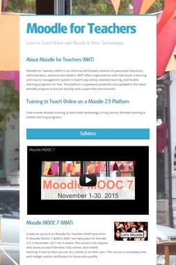 Moodle for Teachers