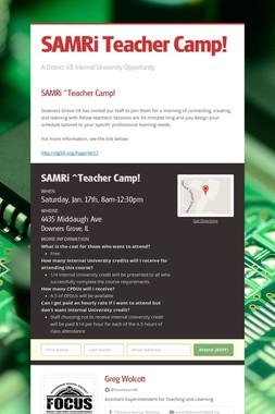 SAMRi  Teacher Camp!