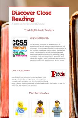 Discover Close Reading