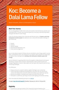 Koc: Become a Dalai Lama Fellow