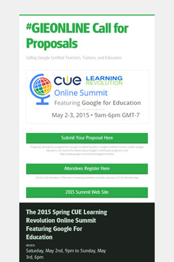#GIEONLINE Call for Proposals