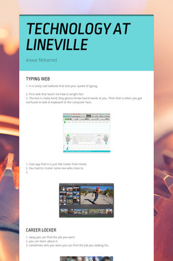 TECHNOLOGY AT LINEVILLE