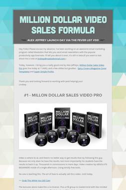 Million Dollar Video Sales Formula