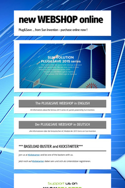 new WEBSHOP online