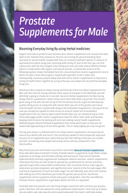 Prostate Supplements for Male
