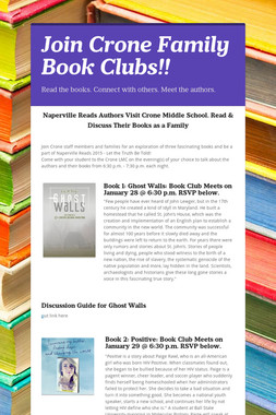Join Crone Family Book Clubs!!