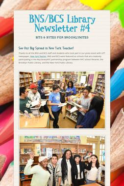BNS/BCS Library Newsletter #4