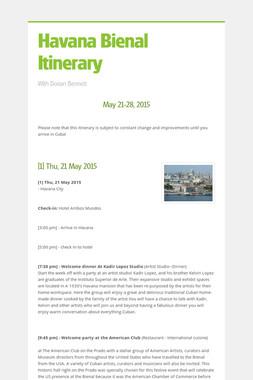 Havana Bienal Itinerary