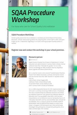 SQAA Procedure Workshop