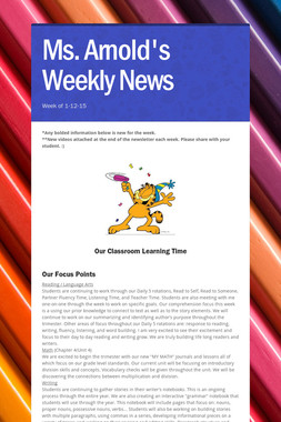 Ms. Arnold's Weekly News