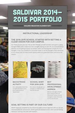 Saldivar 2014-2015 Portfolio