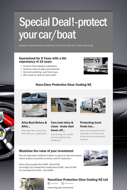 Special Deal!-protect your car/boat