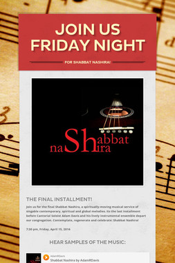 Join us Friday night