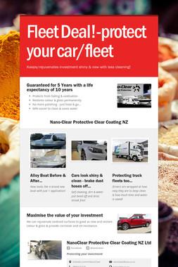Fleet Deal!-protect your car/fleet