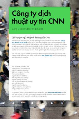 Công ty dịch thuật uy tín CNN