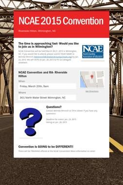 NCAE 2015 Convention