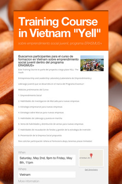 """Training Course in Vietnam """"Yell"""""""