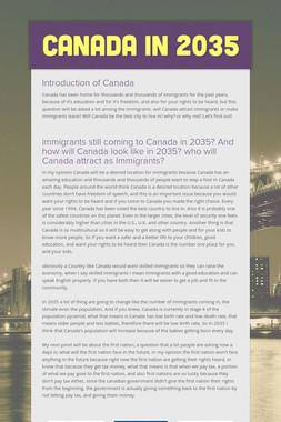 Canada in 2035