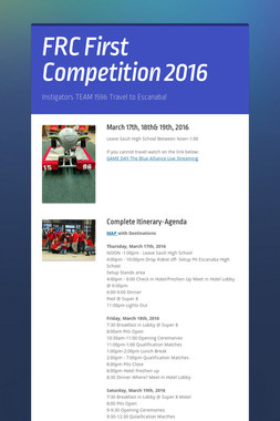 FRC First Competition 2016