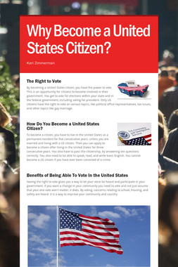 Why Become a United States Citizen?