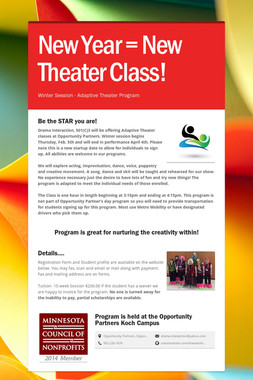 New Year = New Theater Class!